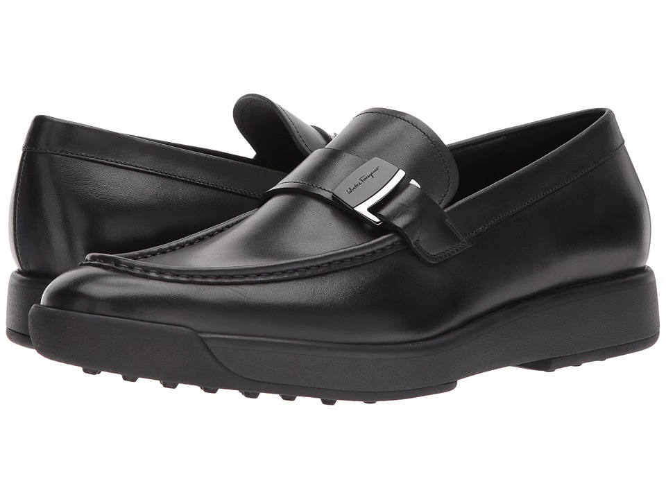 Salvatore Ferragamo Davos Loafer (Black) Men's Shoes