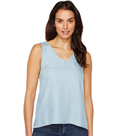 TWO by Vince Camuto - Sleeveless Tencel Splitback V-Neck Tank Top