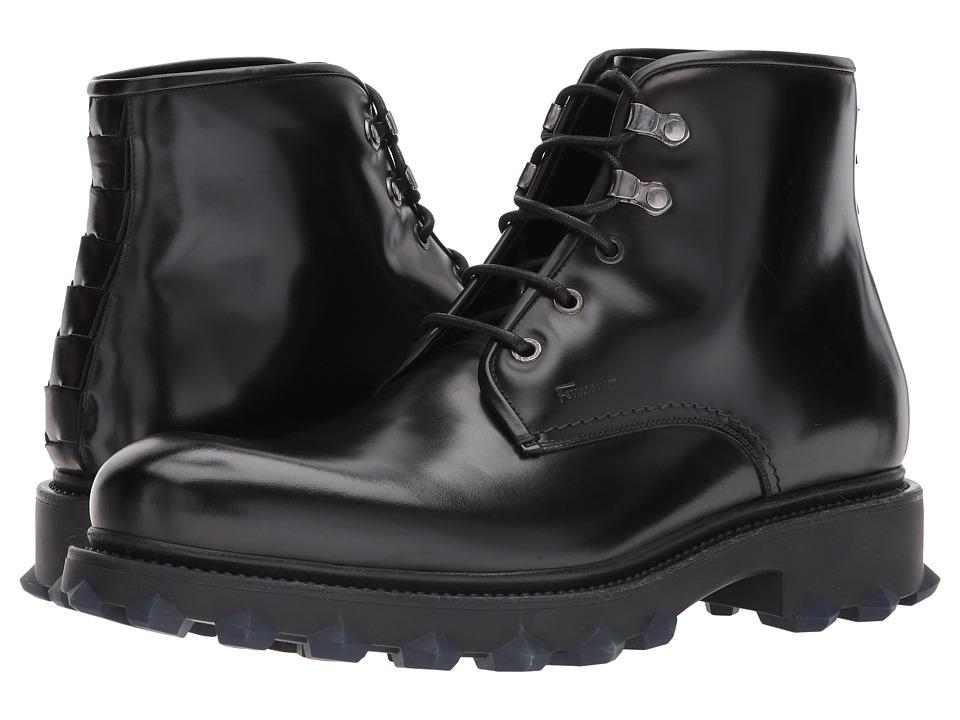 Salvatore Ferragamo Denver Boot (Black) Men's Shoes
