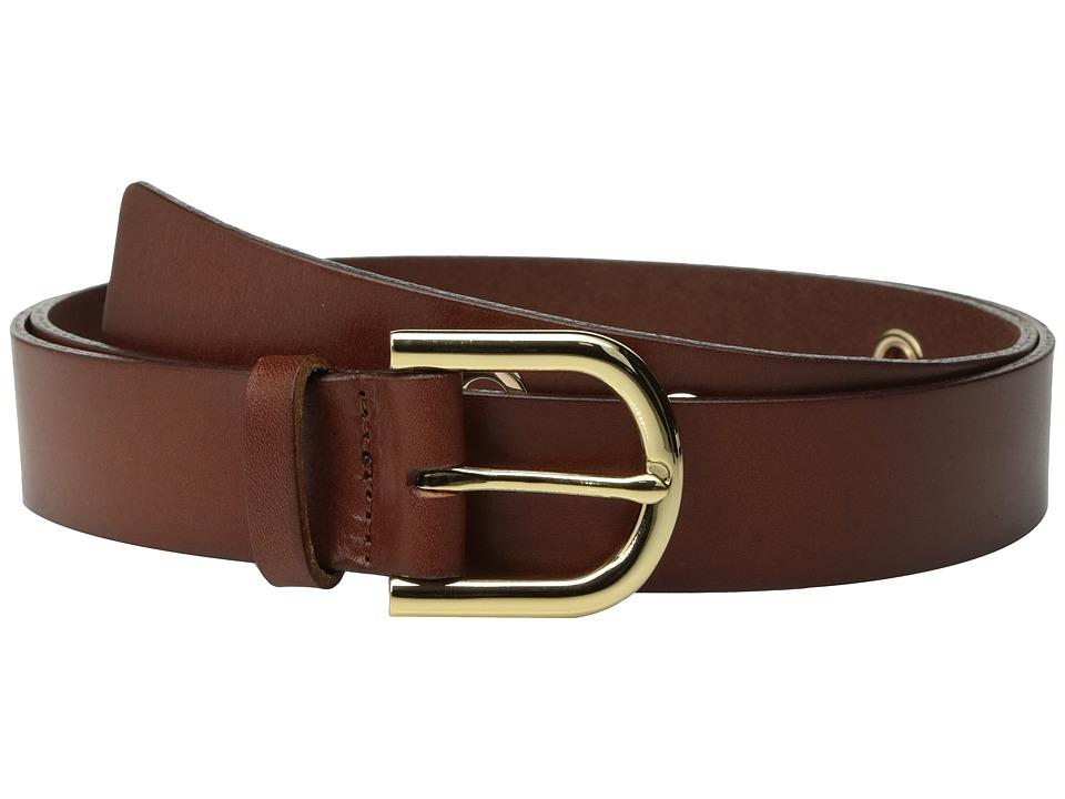 MICHAEL Michael Kors 32mm Veg Panel Belt with Oversized Eyelets (Luggage) Women