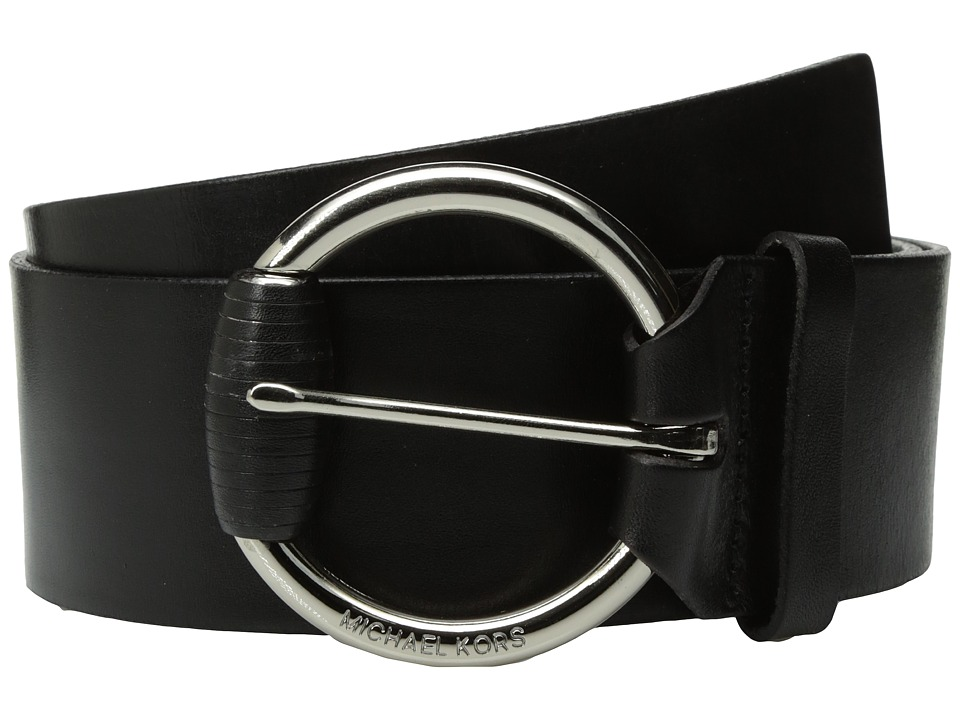 MICHAEL Michael Kors MICHAEL Michael Kors - 55mm Veg Leather Panel Belt on Wrapped Buckle