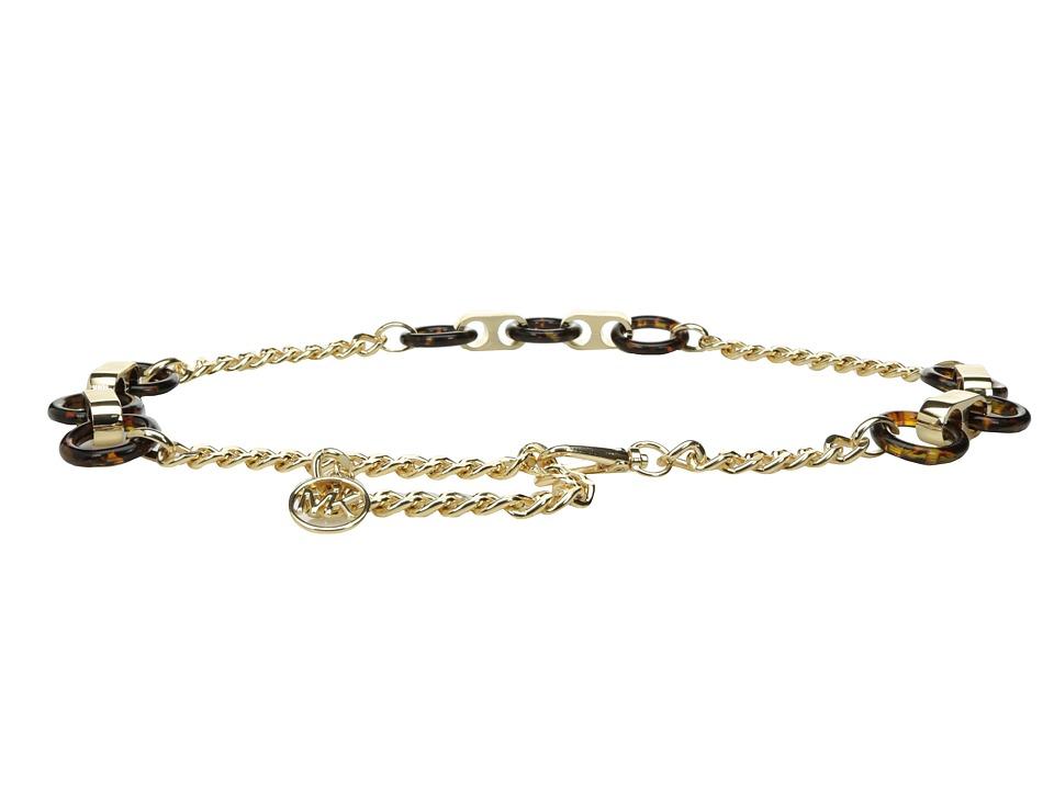 MICHAEL Michael Kors Resin Link Chain Belt (Tortoise) Women