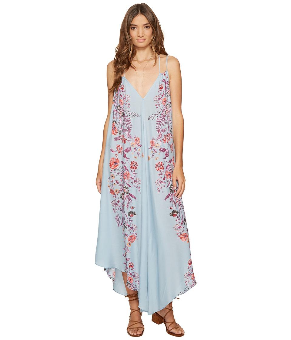 Free People Ashbury Printed Slip Dress (Blue Combo) Women