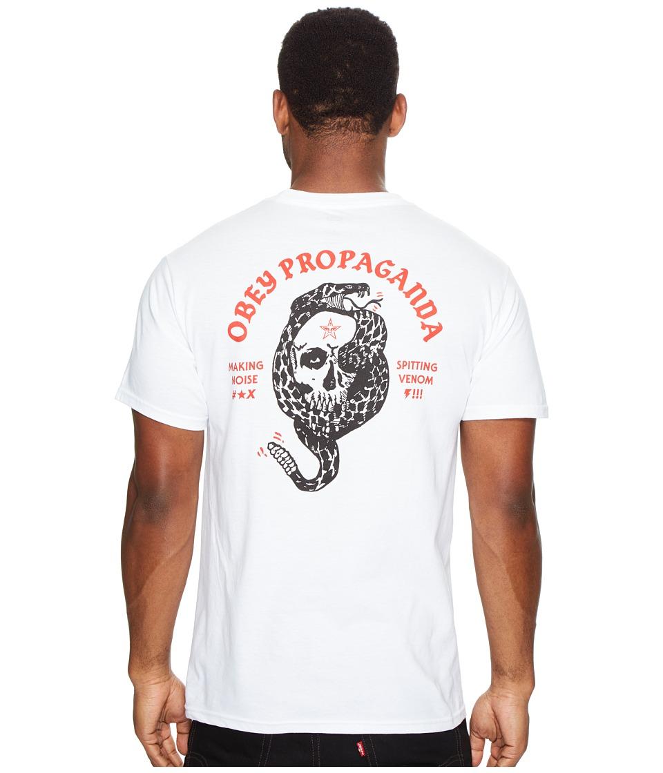 Obey Spitting Venom Rattler Tee (White) Men