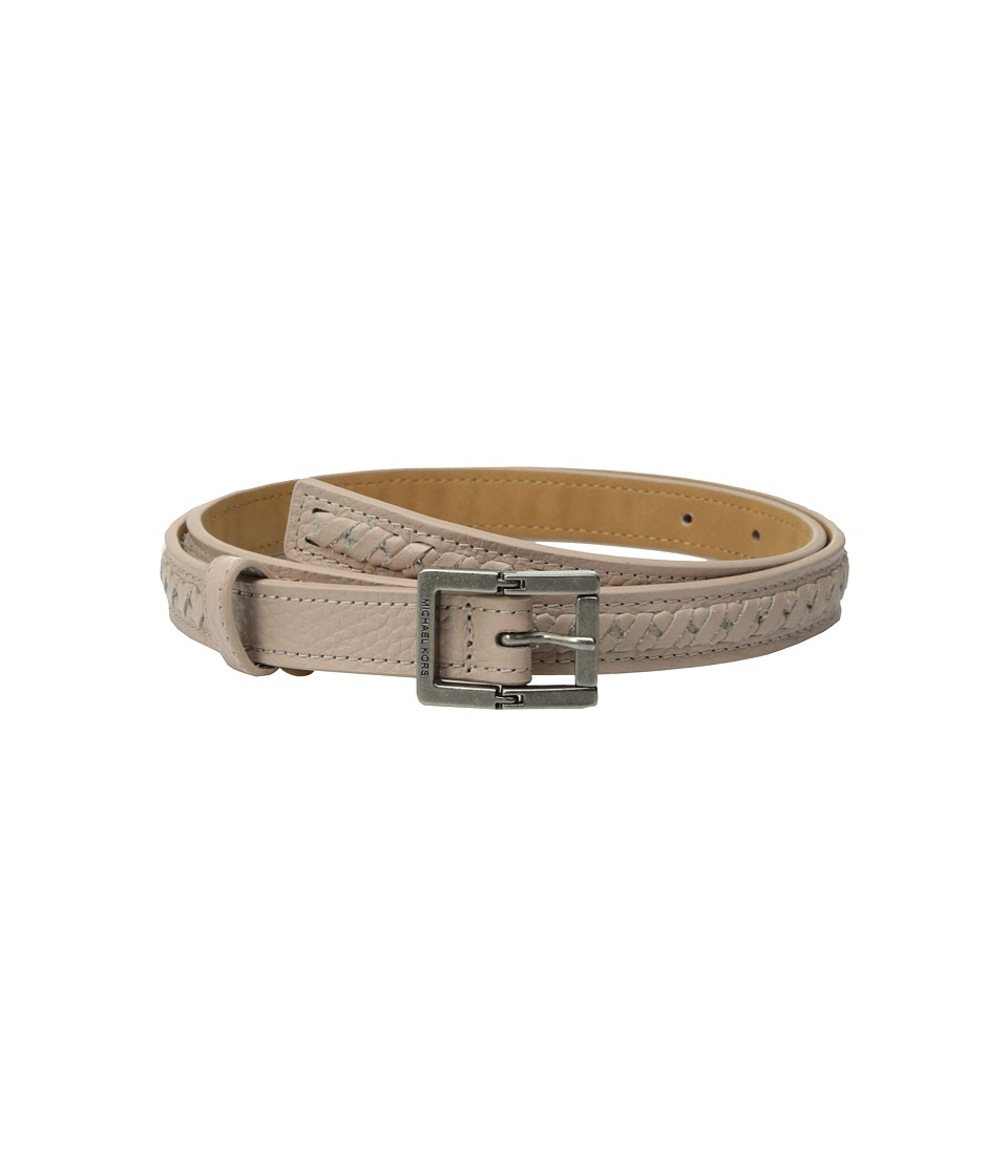 MICHAEL Michael Kors 20mm Pebble Panel Belt with Lacing (Soft Pink) Women