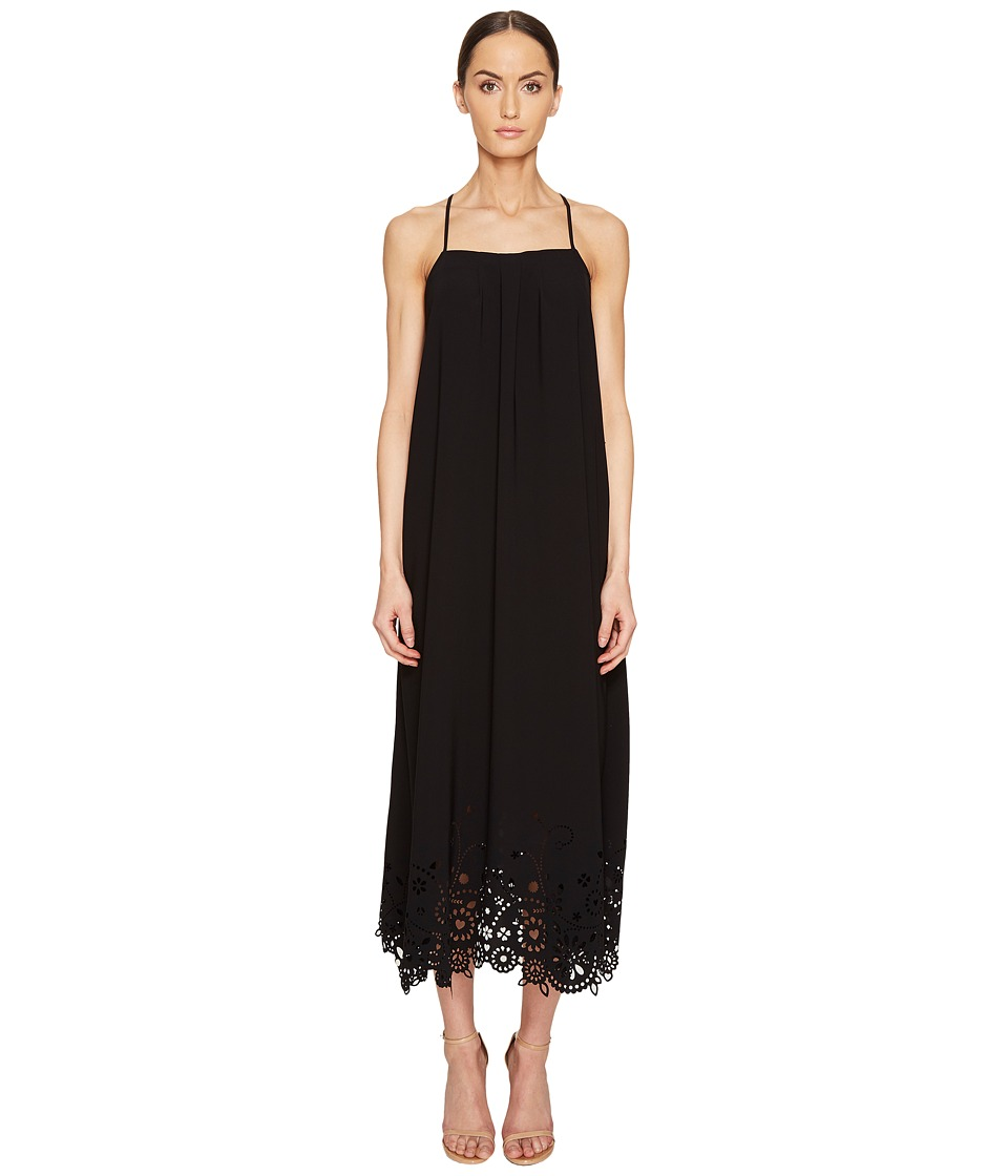 LOVE Moschino Lazer Cut Maxi Dress (Black) Women