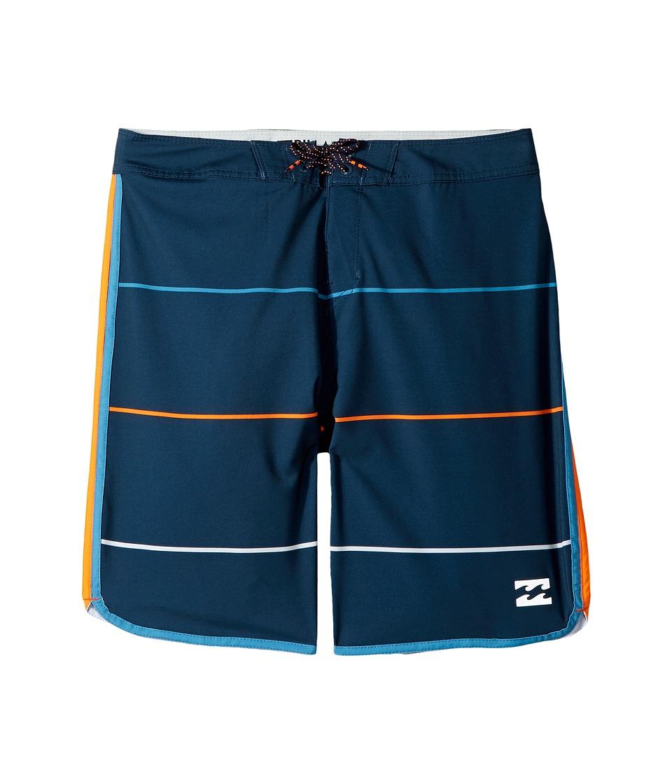 Billabong Kids 73 X Stripe Boardshorts (Big Kids) (Indigo) Boy