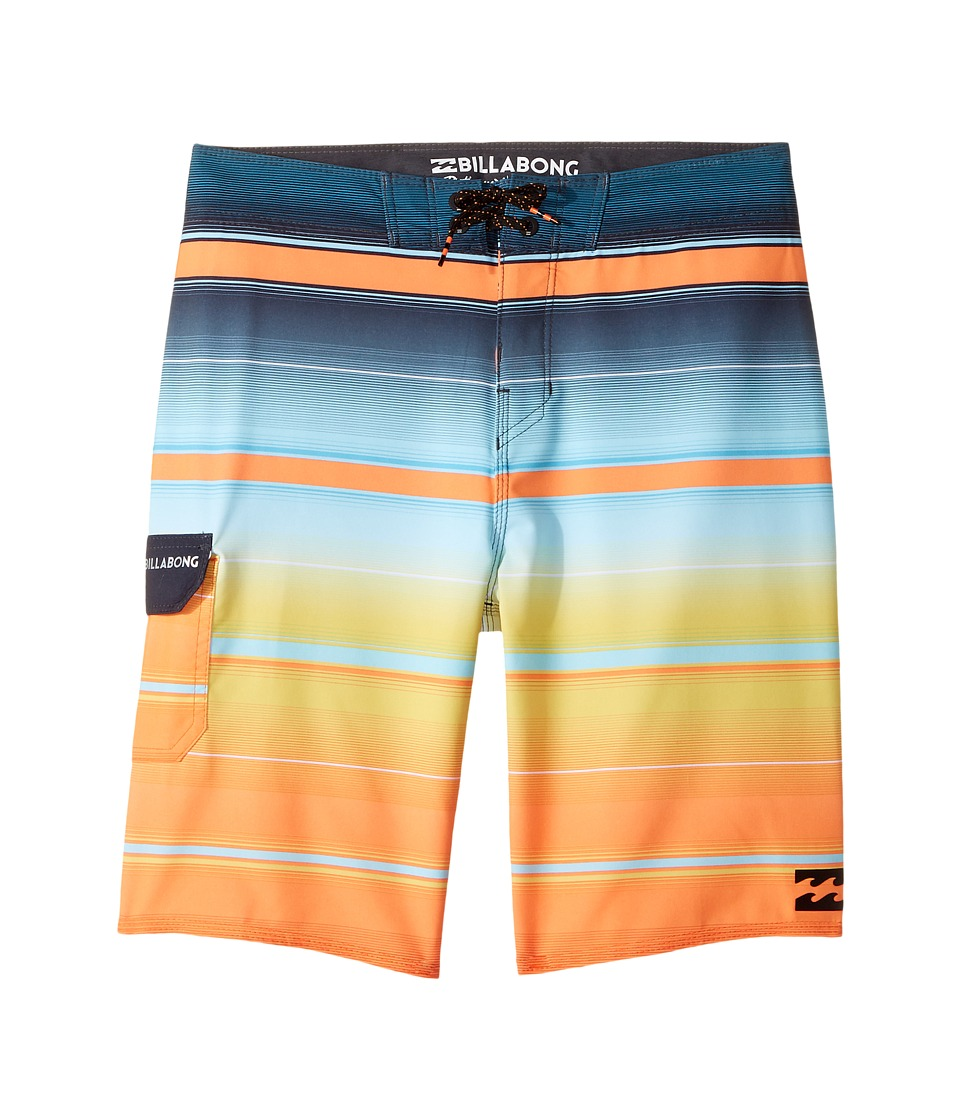 Billabong Kids All Day X Stripe Boardshorts (Big Kids) (Tang) Boy