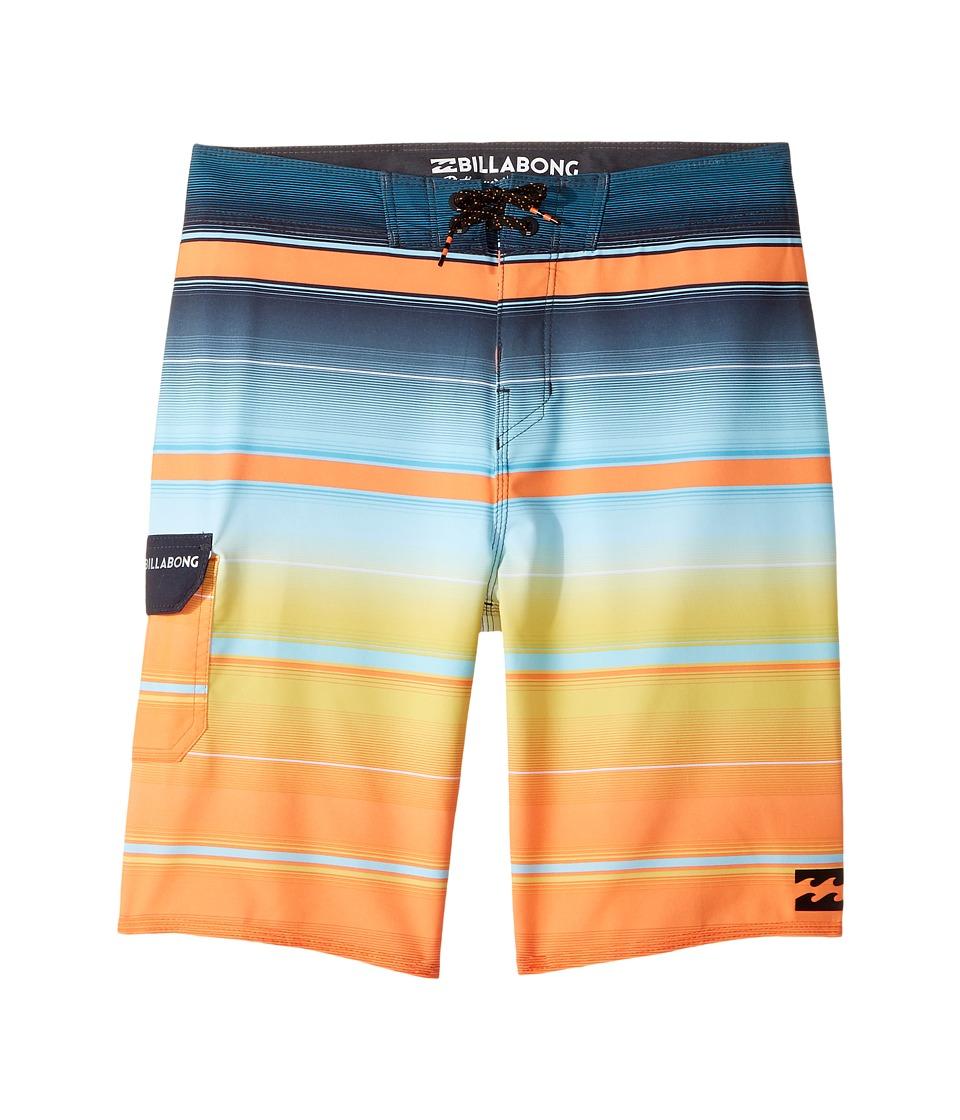Billabong Kids All Day X Stripe Boardshorts (Big Kids) (Tang) Boy