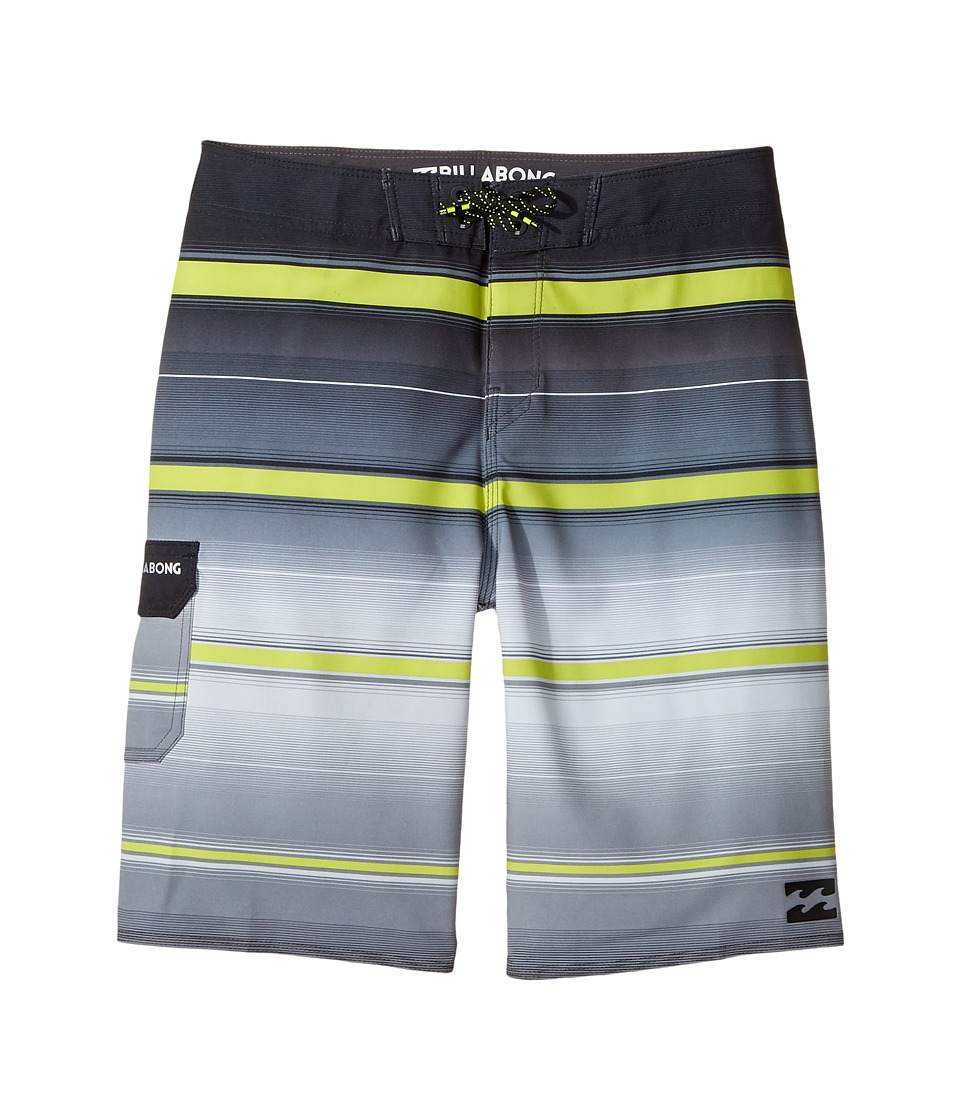 Billabong Kids All Day X Stripe Boardshorts (Big Kids) (Charcoal 2) Boy