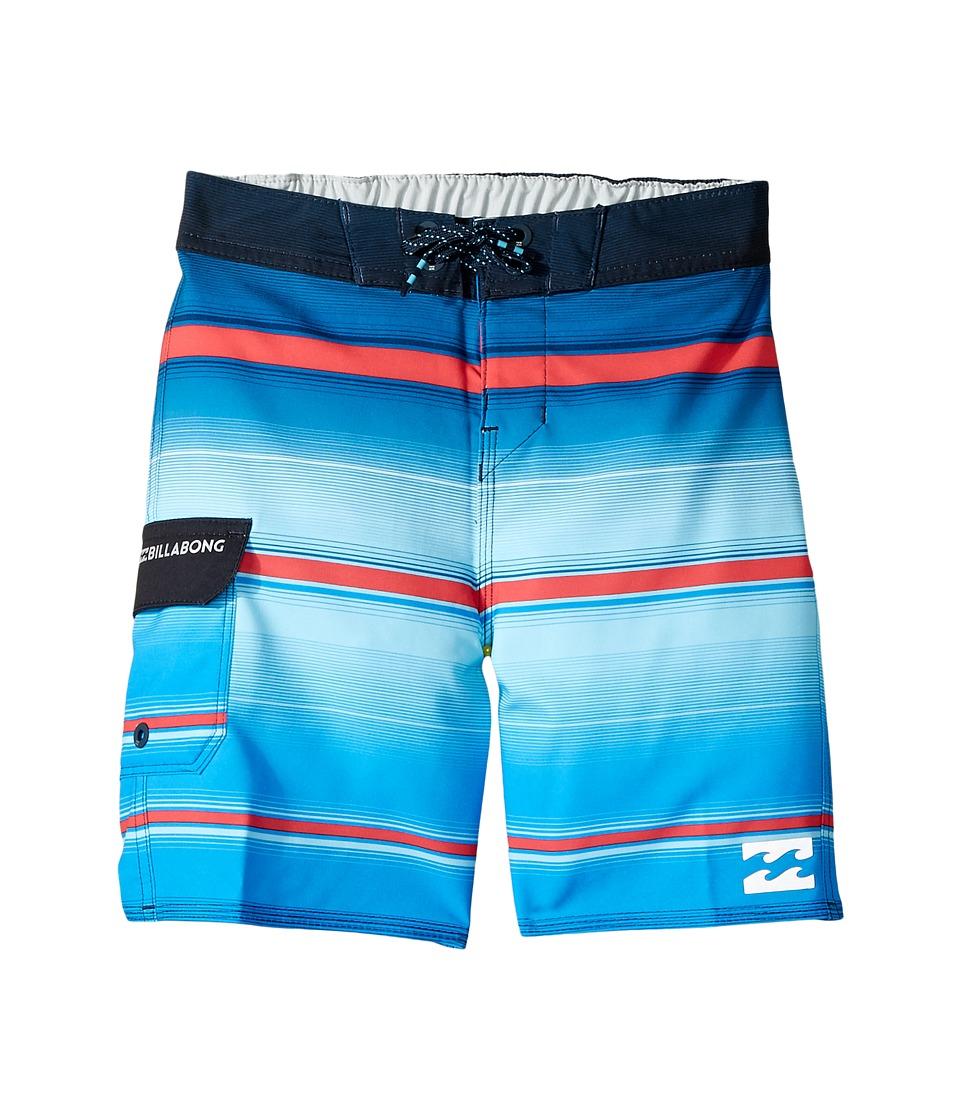 Billabong Kids All Day X Stripe Boardshorts (Toddler/Little Kids) (Royal) Boy