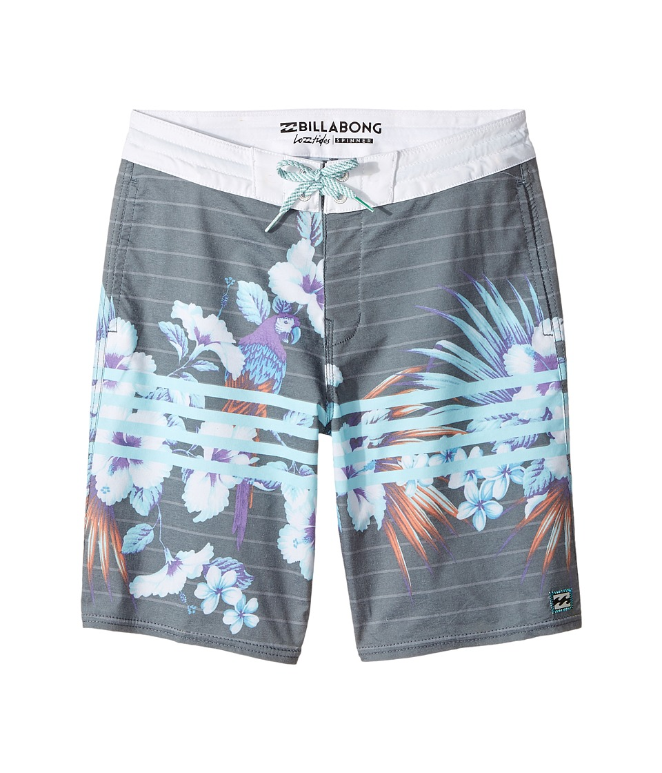 Billabong Kids Spinner LT Boardshorts (Big Kids) (Stealth) Boy