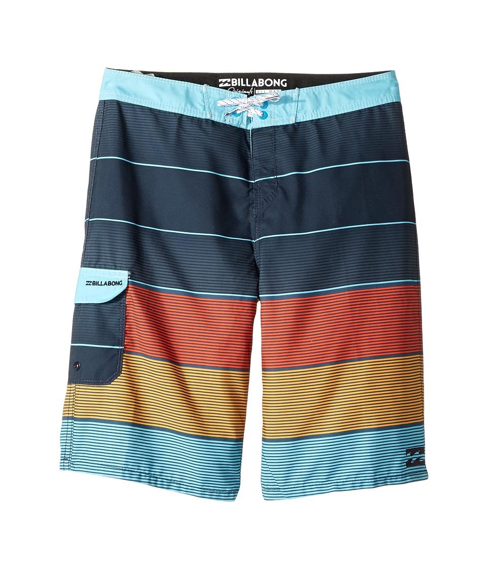 Billabong Kids All Day OG Boardshorts (Big Kids) (Indigo) Boy