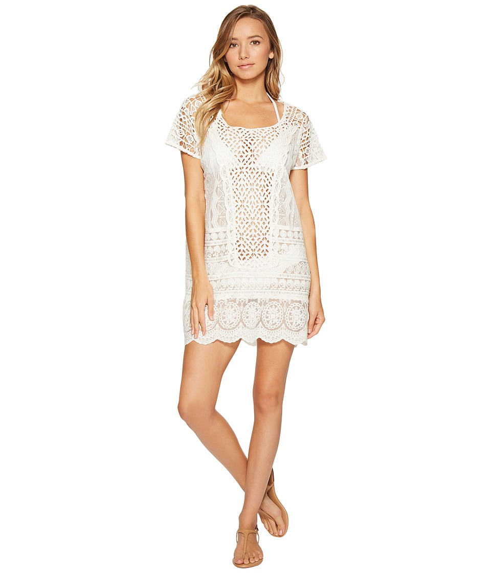 Ralph Lauren Crocheted Lace Tunic Cover-Up (Ivory) Women'...