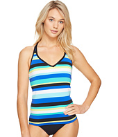 Jantzen - Retro Stripe Crisscross Back Tankini