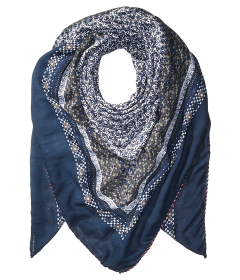 Michael Stars Little Ditsy Square Scarf - Nocturnal