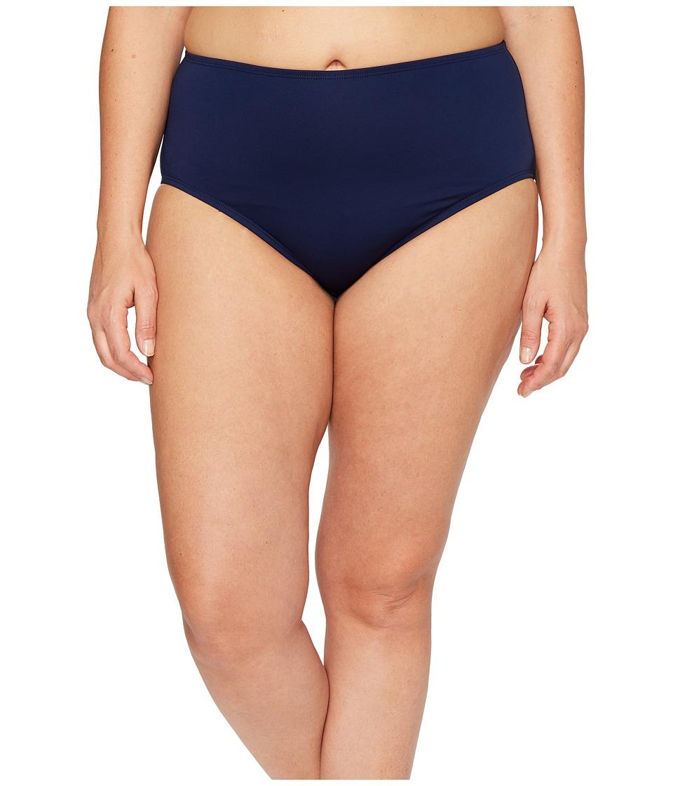 Jantzen Plus Size Solids Comfort Core Bottom (Nocturne Blue) Women