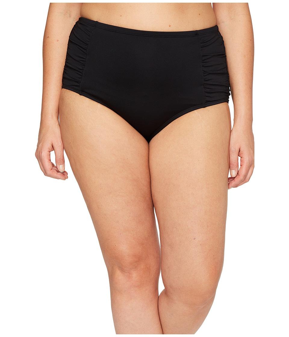 Jantzen Plus Size Solids High Waist Bottom (Black) Women