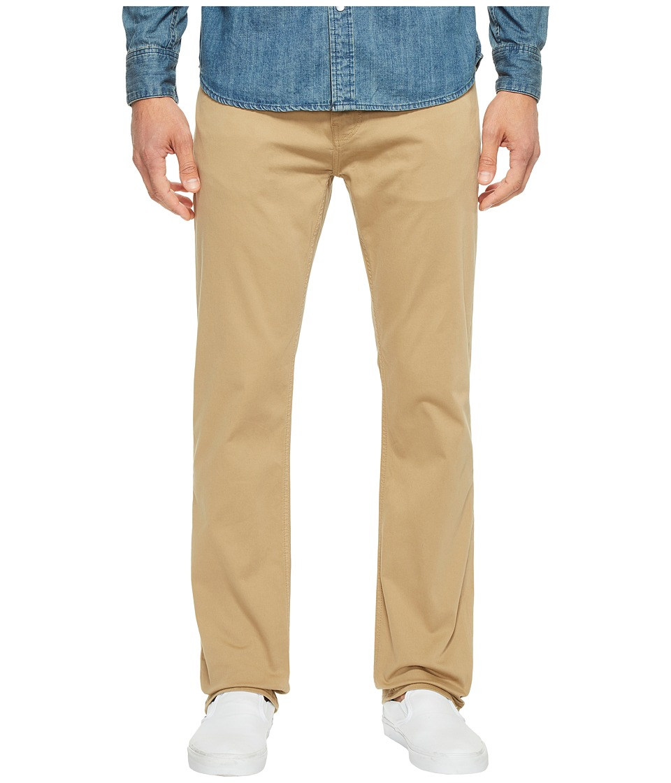 Mavi Jeans Zach Classic Straight Jeans in British Khaki Twill (British Khaki Twill) Men