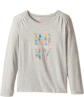 Roxy Kids - Never Ages Flower Power Typo Tee (Toddler/Little Kids/Big Kids)