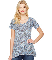 Nally & Millie - Geometric Print Burnout Tunic