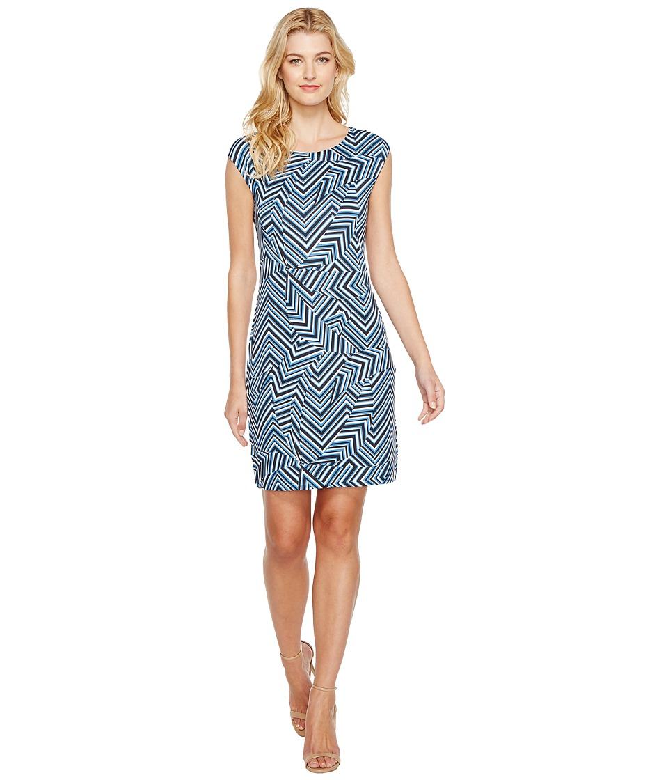 Nally & Millie - Geometric Print Cap Sleeve Dress