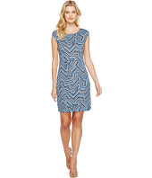 Nally & Millie - Geometric Print Cap Sleeve Dress