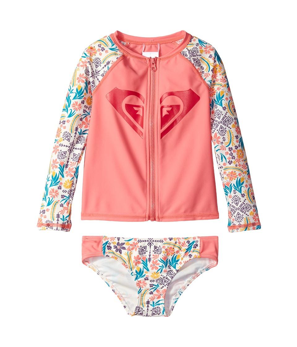 Roxy Kids Caravine Beauty Fashion Lycra Set (Toddler/Little Kids) (Marshmallow Flower Power) Girl