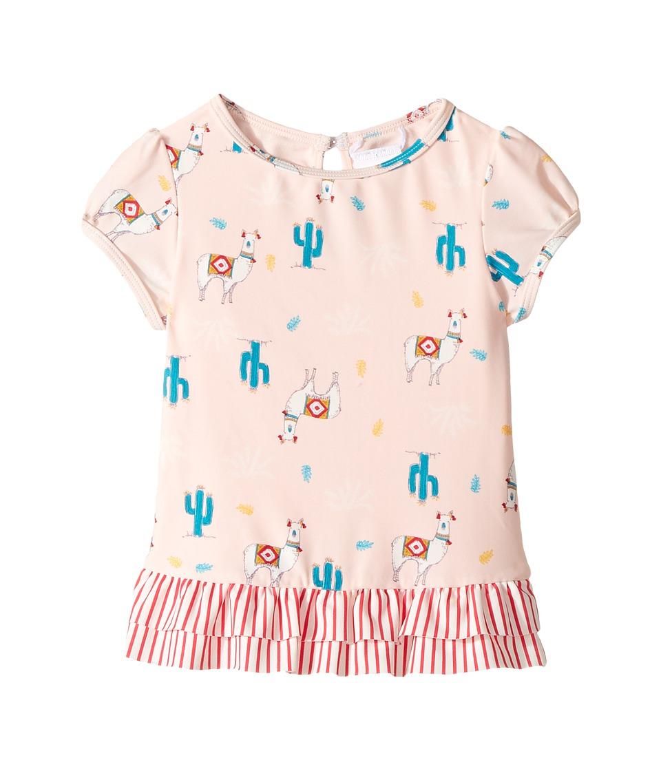 Roxy Kids Cute Travel Fashion Lycra Short Sleeve Set (Toddler/Little Kids) (Rose Quartz Swim Peru Travel) Girl