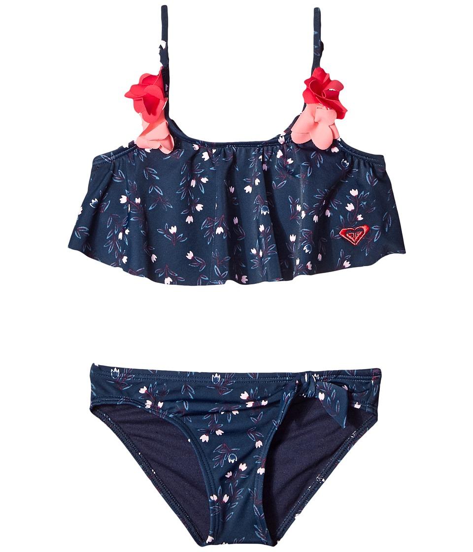 Roxy Kids Star Boho Flutter Set (Toddler/Little Kids) (Swim Dress Blues Nice One) Girl