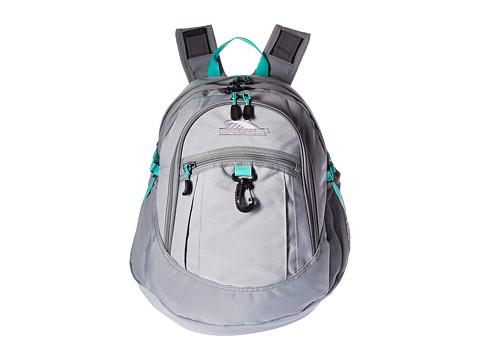 High Sierra Fat Boy Backpack - Silver/Ash/Aquamarine