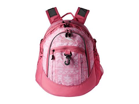 High Sierra Fat Boy Backpack - Block Print/Pink Lemonade