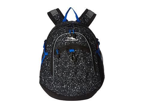 High Sierra Fat Boy Backpack - Speckle/Black/Vivid Blue