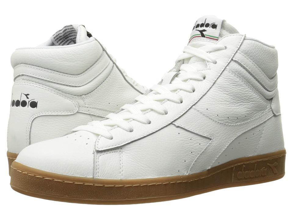 Diadora Game L High Waxed (White) Athletic Shoes