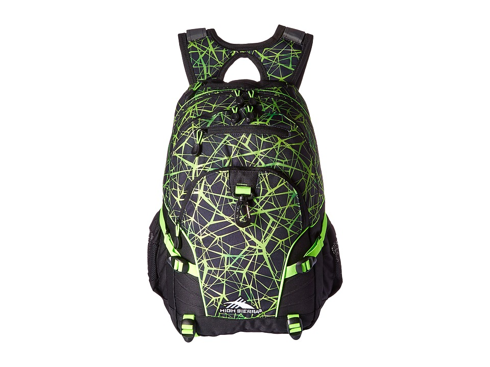 High Sierra - Loop Backpack (Digital Web/Black/Lime) Backpack Bags