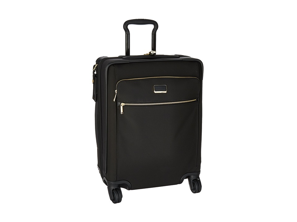 Tumi Larkin Alex Continental Expandable 4 Wheel Carry-On (Black) Carry on Luggage