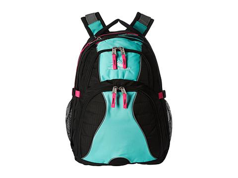 High Sierra Swerve Backpack - Black/Aquamarine/Flamingo