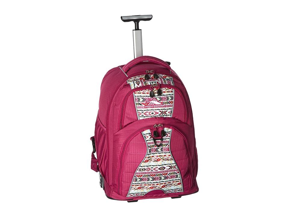 High Sierra Freewheel Wheeled Backpack (Razzmatazz/Macram...