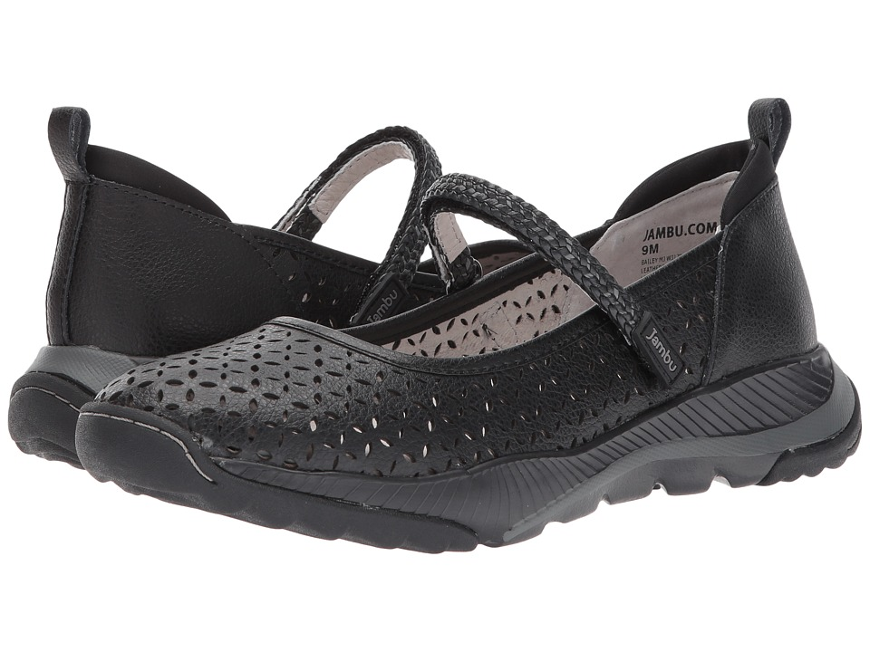 Jambu - Bailey MJ (Black Tumbled Leather) Womens Shoes