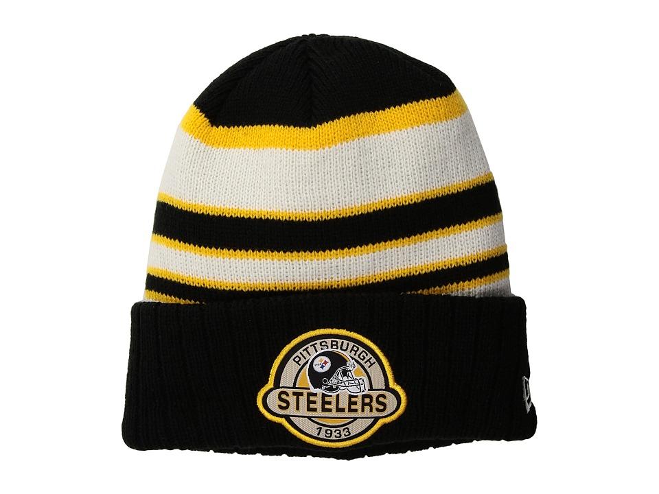 New Era Striped Select Pittsburgh Steelers (Black) Caps