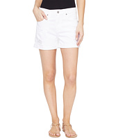 AG Adriano Goldschmied - Hailey Boyfriend Shorts in White Terrain