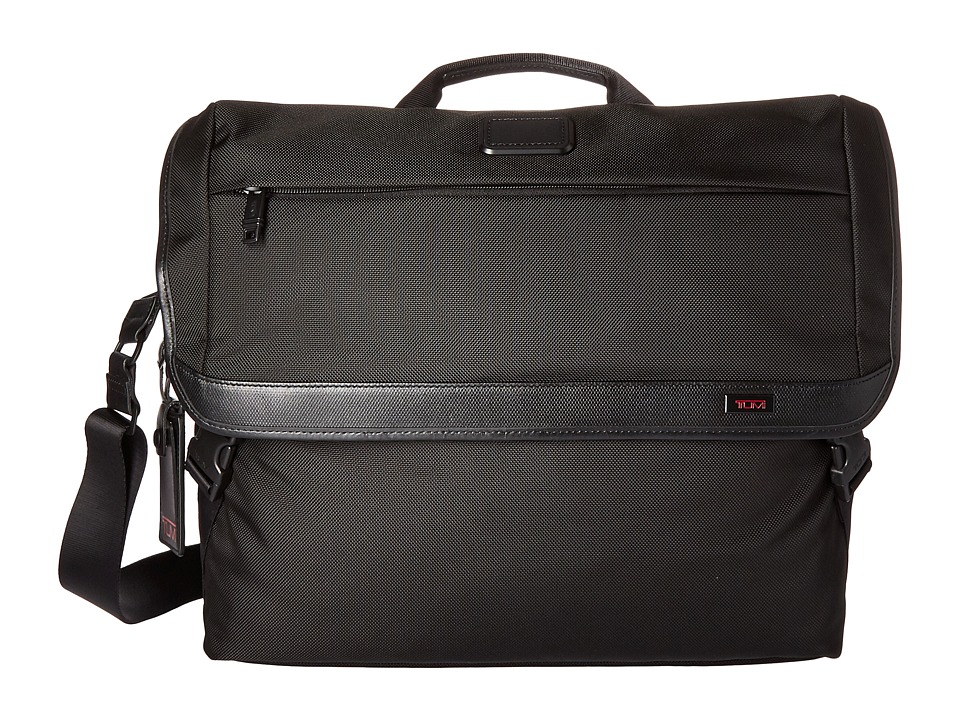 Tumi Alpha 2 Messenger (Black) Messenger Bags