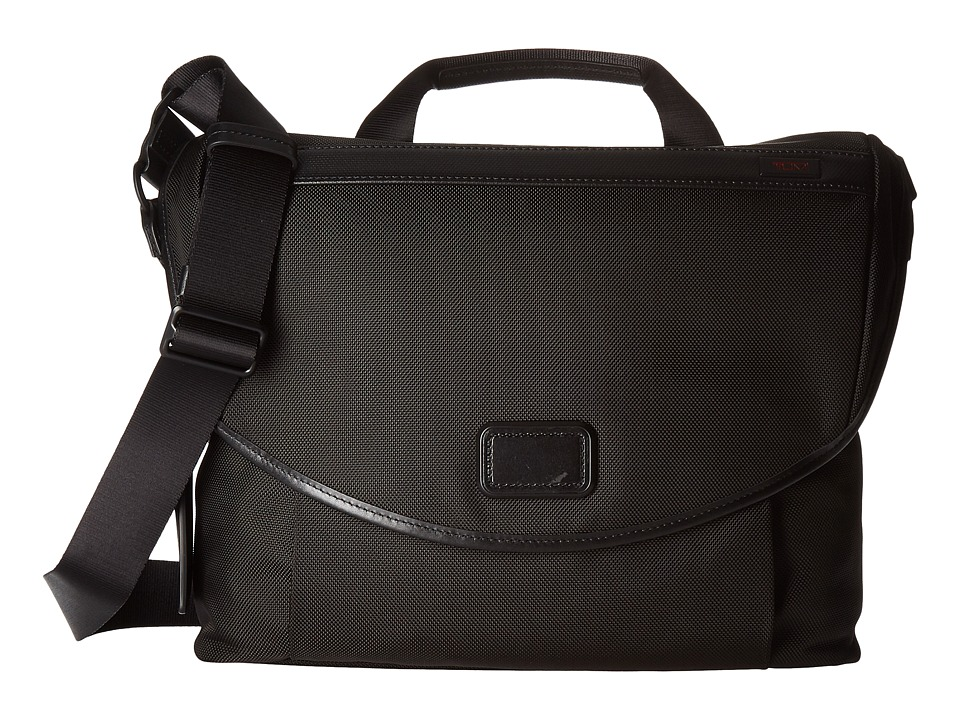 Tumi Alpha 2 Slim Messenger (Black) Messenger Bags