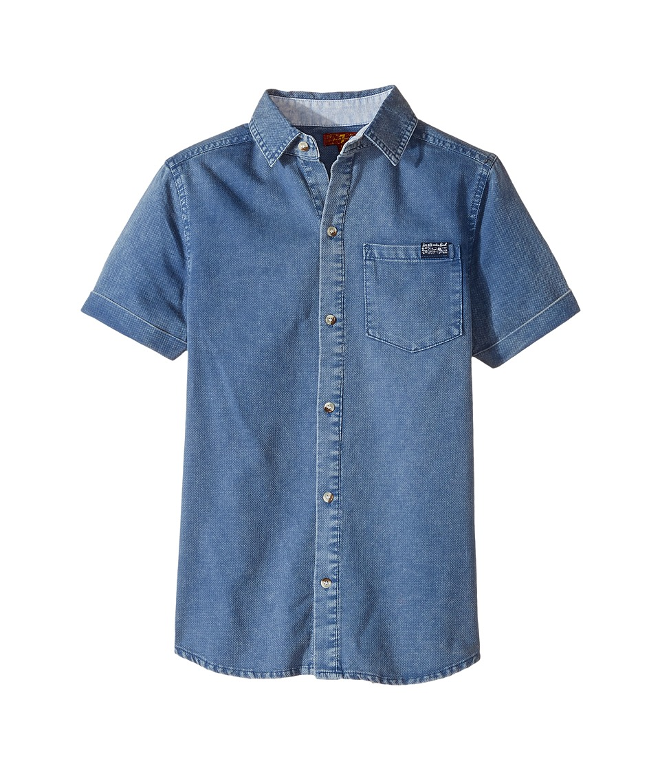 7 For All Mankind Kids - Short Sleeve Textured Knit Shirt