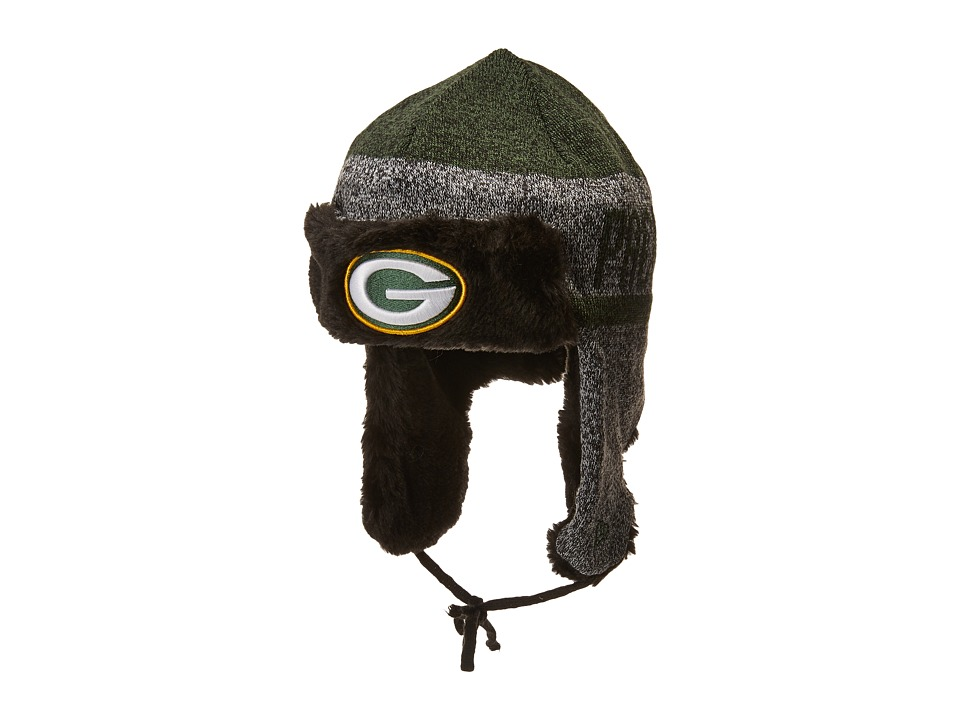 New Era Frostwork Trapper Green Bay Packers (Gray) Knit Hats