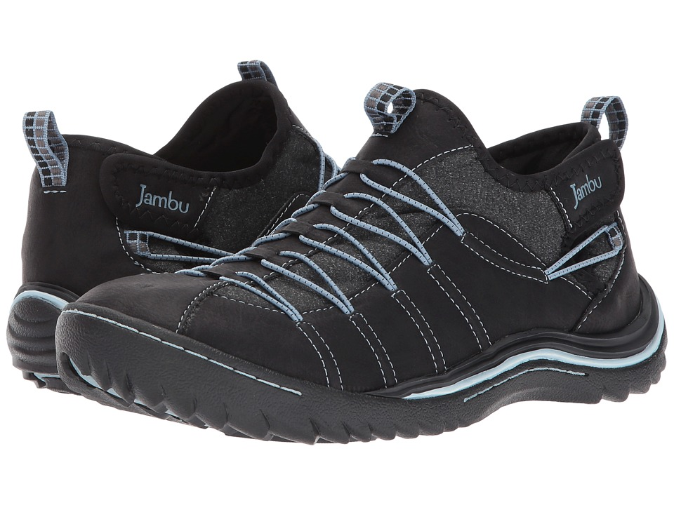 Jambu - Spirit Vegan (Black/Blue Smoke Tumbled Vegan/Melange Neoprene) Womens Shoes
