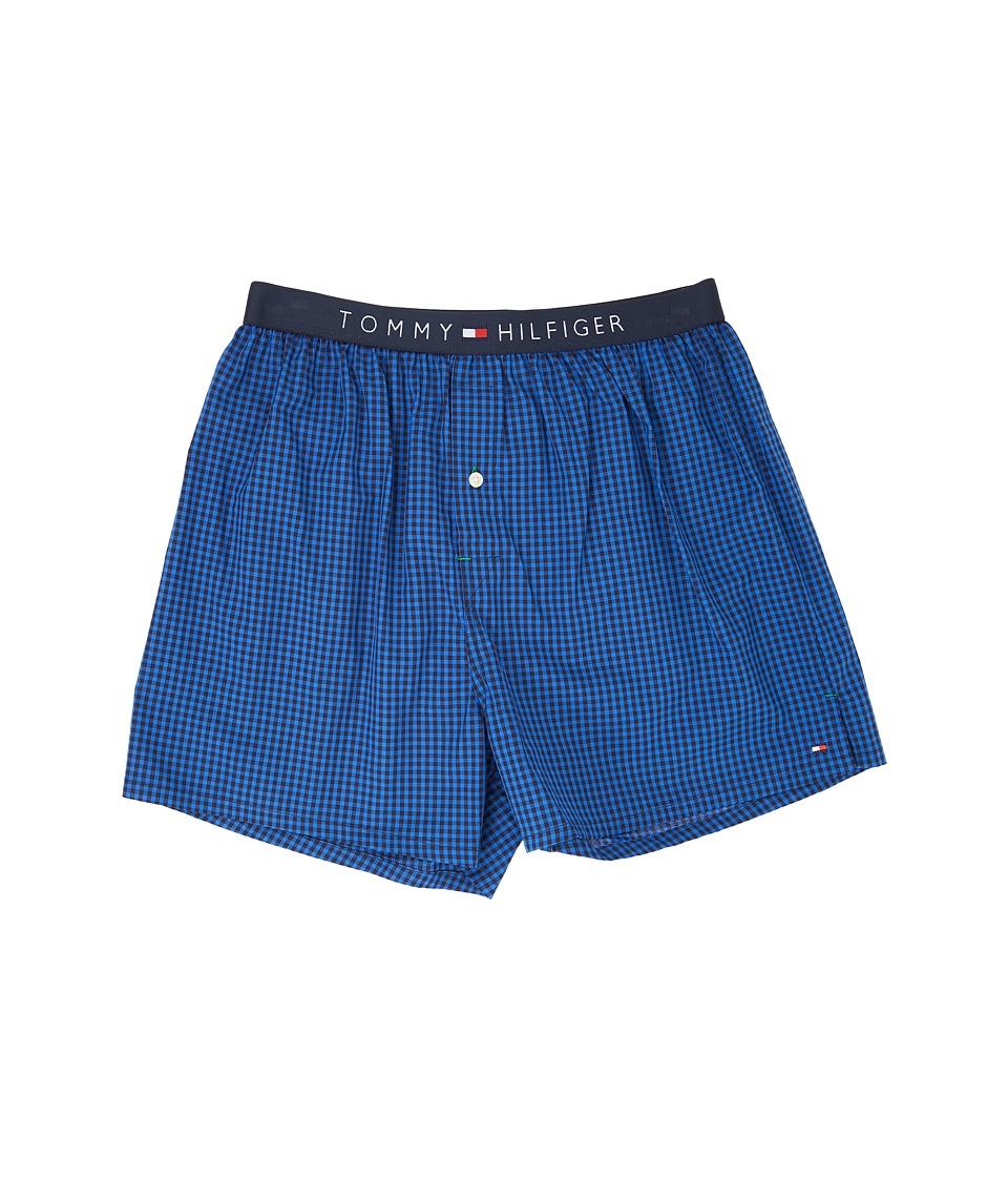 Tommy Hilfiger Woven Boxer Core (Indigo) Men's Underwear