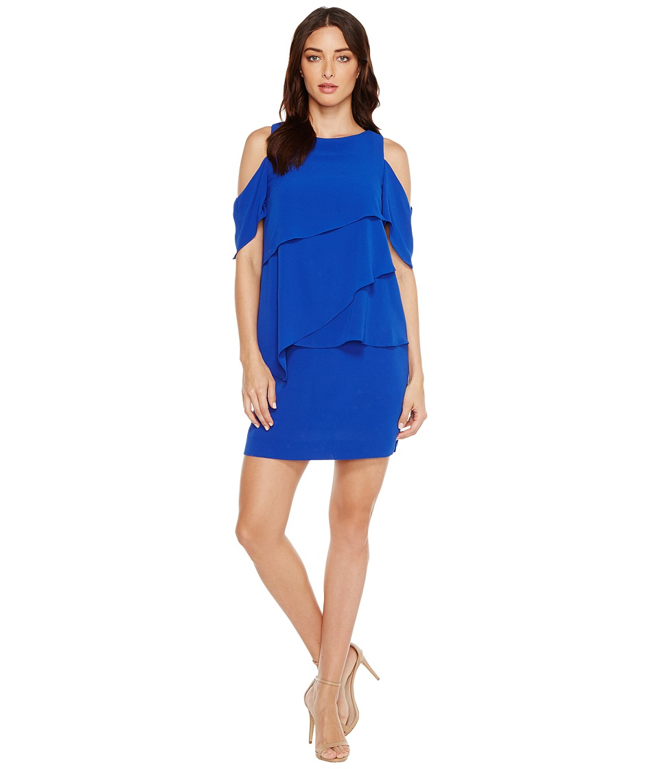 Tahari by ASL Tahari by ASL - Draped Cold Shoulder Shift Dress