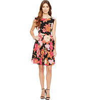 Tahari by ASL - Side Tie A-Line Floral Dress