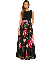Tahari by ASL - Floral Skirt Sleeveless Ballgown